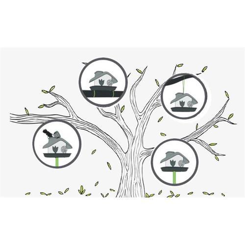 Plastové krmítko pro venkovní ptáčky Domek Krmítko pro venkovní ptactvo Domek.