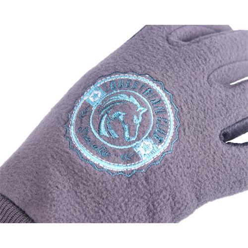 Dětské rukavice QHP Hidalgo - šedé, 10 let Rukavice dětské QHP Hidalgo, šedé, 10 let