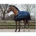 Nepromokavá deka s fleecem QHP, modré kostky