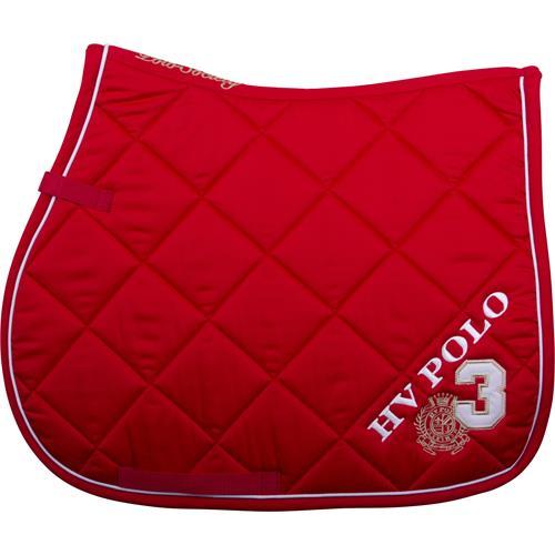 Podsedlová dečka HV Polo Favouritas, s logem - červená Dečka podsedlová HV Polo Favouritas, červená