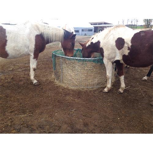 Příkrmiště kruhové plné pro skot a koně, pozinkované průměr 210 cm Síť na seno do příkrmiště