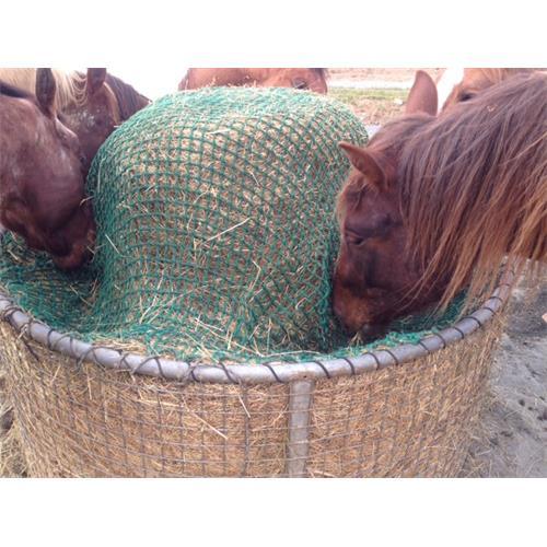 Příkrmiště kruhové pro koně se sítí, pozinkované průměr 170 cm, výška 80 cm Síť na seno do příkrmiště