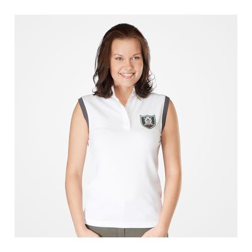 Dámské závodní triko Horze bez rukávů, bílé s erbem - vel. L Triko dámské Horze bez rukávů, bílé, vel. L