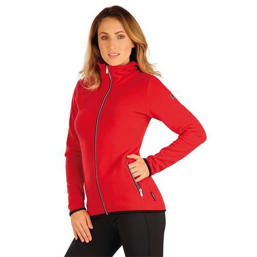 Dámská fleesová mikina Litex, červená - vel. XL Mikina dámská Litex fleecová, červená, vel. XL