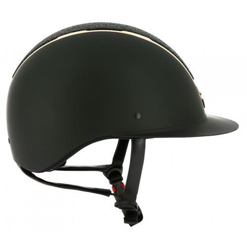 Jezdecká přilba Equi-theme Glint - černo-růžová, vel. 58-60 Přilba jezdecká Equith. Glint, černo-růž, 58-60