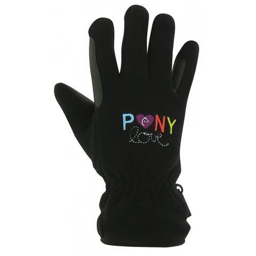 Dětské zimní jezdecké rukavice Equi-theme, s barevným nápisem - 9-12 let Rukavice dětské Ekkia, s barevným nápisem, 9-12 let