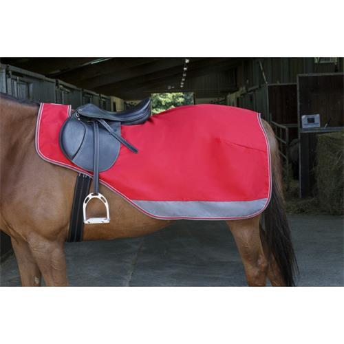 Bederní nepromokavá deka Equi-theme, červeno-šedá - 165 cm Deka bederní neprom. Equith., červeno-šedá, 165cm