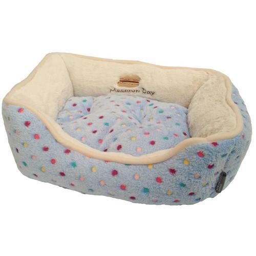 Pelíšek pro psy Soft s puntíky, modrý - 47 cm Pelíšek s puntíky Extra soft Bed modrá.