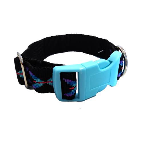 Nylonový obojek pro psy, modrý, 22 - 32 cm Ilustrativní foto - barevné provedení se může lišit dle aktuální nabídky.