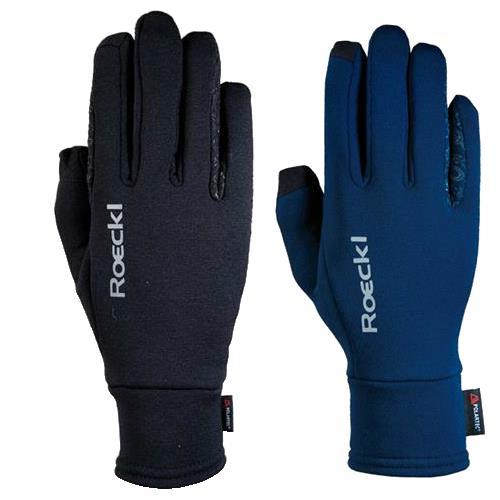 Zimní jezdecké rukavice Roeckl Weldon - černé, vel. 6 Zimní rukavice Roeckl Weldon modré / černé