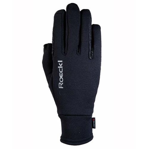 Zimní jezdecké rukavice Roeckl Weldon - černé, vel. 6 Zimní rukavice Roeckl Weldon, černé