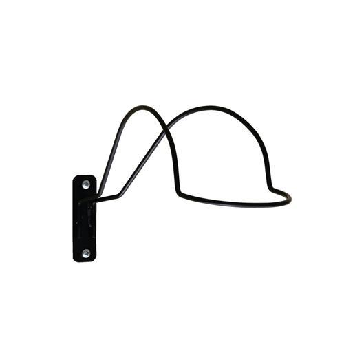 Držák na přilbu, pevný, práškový lak, černý Držák na přilbu, pevný, práškový lak, černý
