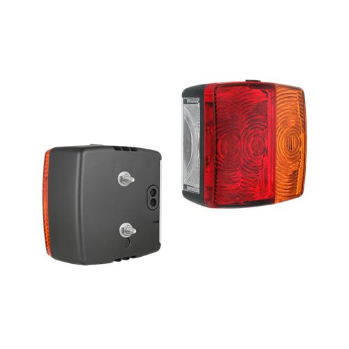 Koncové světlo na přívěsný vozík, 1 ks Koncové světlo na přívěsný vozík, 3 oddělení, konc-brzda-směr, osvětlení SPZ