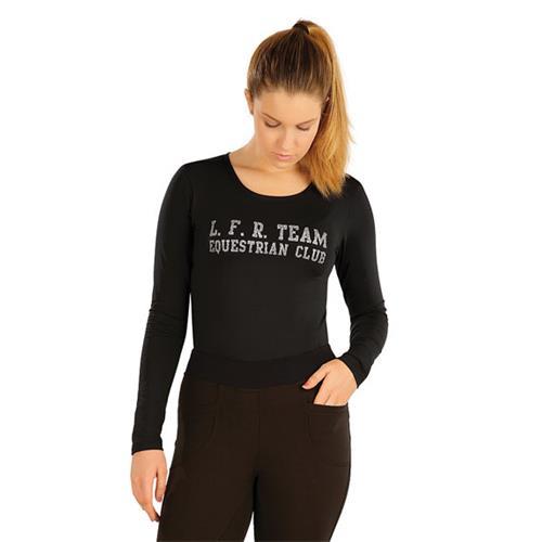 Dámské triko Litex, černé s nápisem - vel. S Triko dámské Litex, černé s nápisem, vel. S
