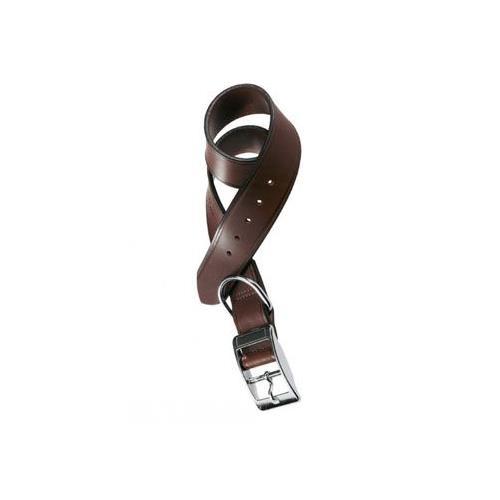 Kožený nepodložený obojek VIP, hladký, hnědý - 59 cm Obojek pro psy kožený VIP hnědý.