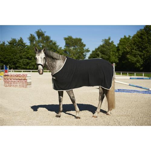 Odpocovací deka Kerbl Economic, modrá s šedým lemem - černá, vel. 135 cm Deka odpoc. Rugbe Economic, černá, vel. 135cm
