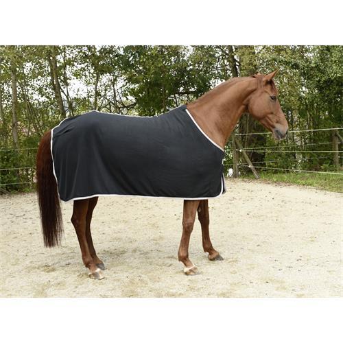 Odpocovací deka Kerbl Economic, modrá s šedým lemem - černá, vel. 155 cm Deka odpoc. Rugbe Economic, černá, vel. 155cm