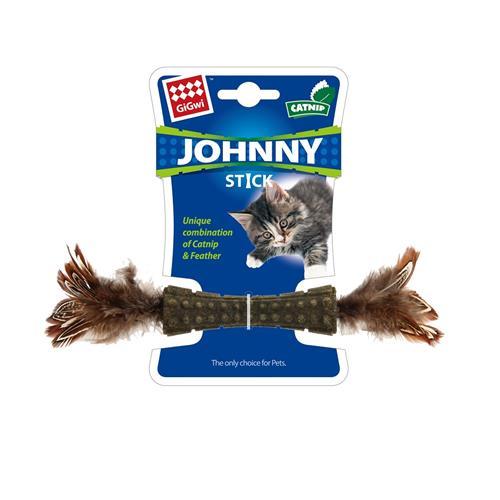 Hračka pro kočky GiGwi Johnny činka s peříčky, Catnip 8 cm Hračka pro kočky GiGwi Johnny činka s peříčky, 8 cm.