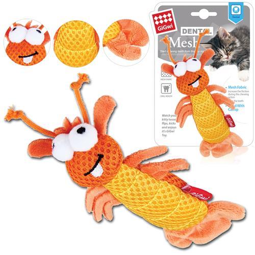 Hračka pro kočky GiGwi Dental Mesh kreveta, oranžová, 15 cm Hračka pro kočky GiGwi Dental kreveta, 15 cm.