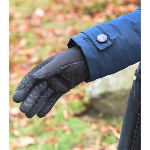 Zimní jezdecké rukavice ELT Jump, černé / smaradg - černé, vel. L Rukavice jezdecké ELT Jump černé, vel. L