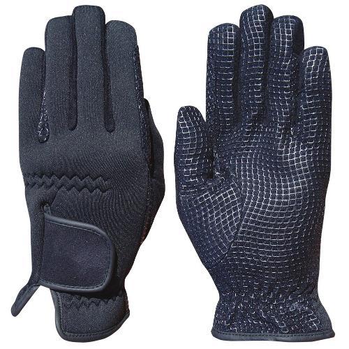Neoprenové jezdecké rukavice Harrys Horse, černé - XL Jezdecké zimní rukavice, neopren, černé, XL