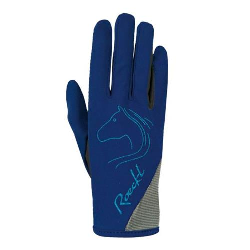 Dětské jezdecké rukavice Roeckl Tryon - modré, vel. 5 Rukavice dětské Roeckl Tryon, modré, vel. 5