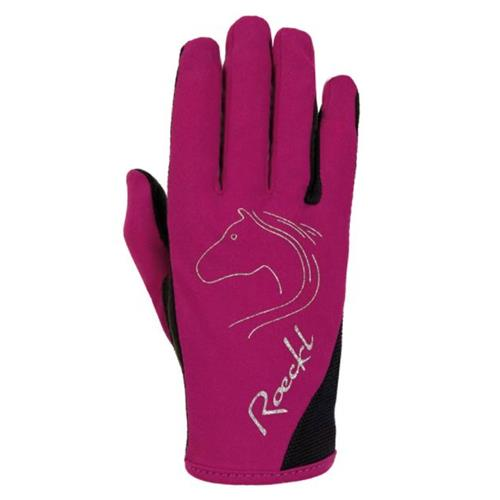 Dětské jezdecké rukavice Roeckl Tryon - růžové, vel. 4 Rukavice dětské Roeckl Tryon, růžové, vel. 4