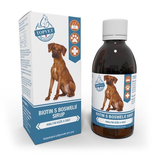 Biotin s Boswélií sirup pro psy Topvet, 200 ml Biotin s boswélií sirup pro psy TOPVET, 200 ml.
