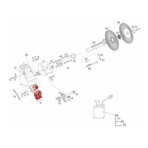 Náhradní motor a převodovka pro HappyCow Mono Náhradní motor a převodovka pro HappyCow Mono