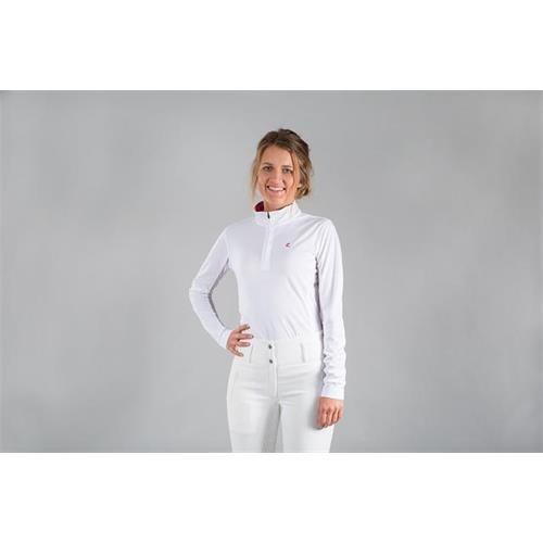 Dámské závodní triko Horze Trista, bílé - vel. 42 Triko dámské Horze Trista, bílé, vel.42