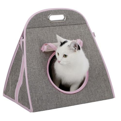 Pelíšek - taška pro kočky 42x30x41 cm Taška pro kočky 42x30x41 cm - přední strana.