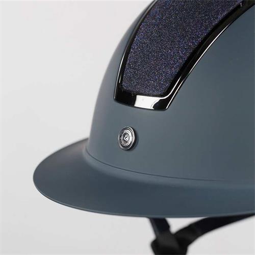 Jezdecká přilba Horze Monarch Glitter - modrá, 52-54 Přilba jezdecká Metallic Glitter, modrá, 52-54