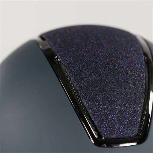 Jezdecká přilba Horze Monarch Glitter - modrá, 58-60 Přilba jezdecká Metallic Glitter, modrá, 58-60