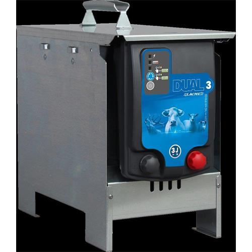 Schránka na baterii a zdroje  LACME DUO, pozinkovaná Schránka na zdroj  LACME DUO, baterii a držák solárního panelu - pozinkovaný