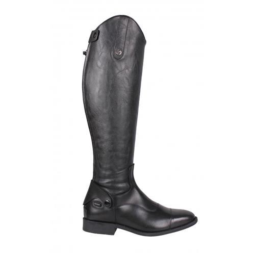 Kožené jezdecké boty QHP Birgit, černé - vel. 36 Jezdecké boty QHP Birgit, černé