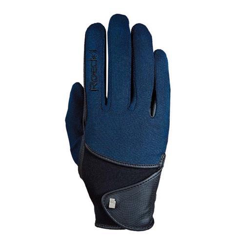 Jezdecké rukavice Roeckl Madison, modro-černé - vel. 9 Rukavice jezdecké Roeckl, Madison, modro-černé