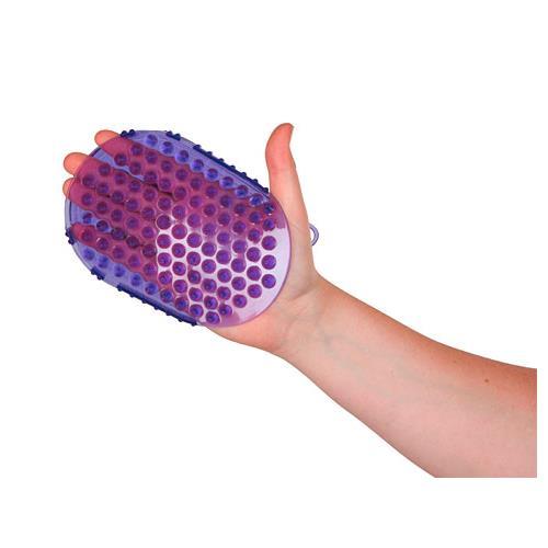 Rukavice masážní a čistící - fialová Rukavice masážní a čistící, fialová