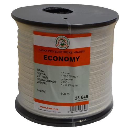 Polyetylenová páska pro elektrické ohradníky ECONOMY 10 mm Polyetylenová páska pro elektrické ohradníky ECONOMY 10 mm