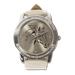 Dámské hodinky, béžové s kamínky