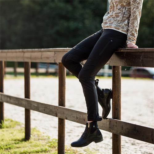 Jezdecká perka Horze Paddock se zipy, černá - černé, vel. 36 Perka Horze Paddock se zipy, černé, vel. 36