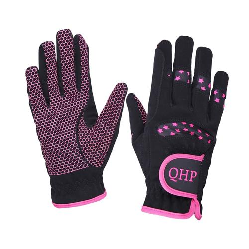 Dětské rukavice QHP Multi Star modré / růžové - růžové, vel. XS Rukavice dětské QHP Multi Star, růžové
