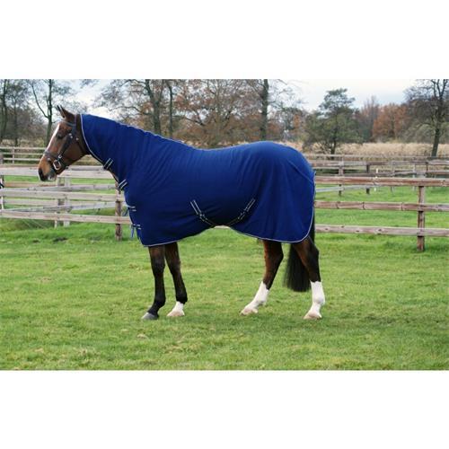 Odpocovací deka s krkem QHP, modrá - vel. 155/205 cm Deka odpoc. QHP s krkem, modrá