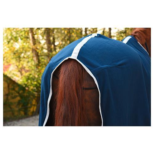 Odpocovací deka Kerbl Economic, modrá s šedým lemem - modrá, vel. 165 cm Deka odpoc. Rugbe Economic, modrá, vel. 165cm