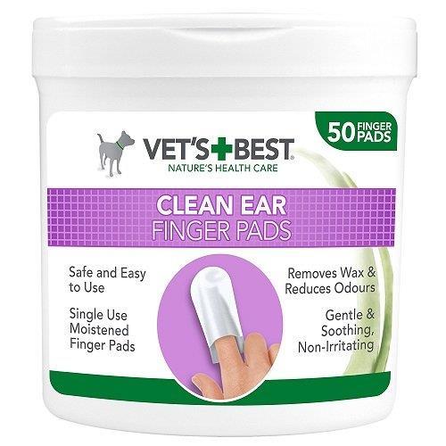 Čistící utěrky pro psy VET´S BEST na uši, 50 ks Čistící utěrky pro psy VET´S BEST na uši, 50 ks