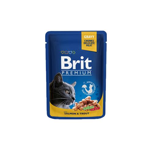 BRIT Premium Cat Salmon & Trout kapsička 100 g Brit Premium Cat Pouches with Salmon & Trout.