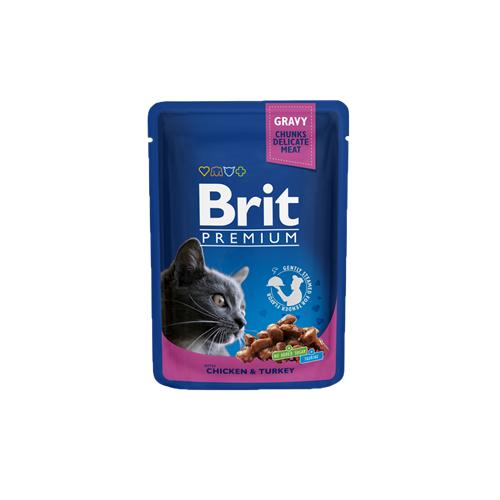 BRIT Premium Cat Chicken & Turkey kapsička 100 g BRIT Premium Cat Chicken & Turkey.