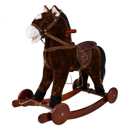 Houpací koník Equi-kids - tmavě hnědý Koník houpací Equi-kids, tmavě hnědý