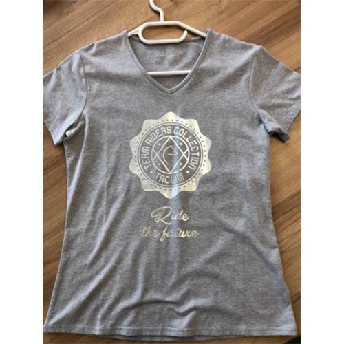 Dámské triko Equi-Theme, šedo-modrý melír - vel. S Triko dámské EKKIA, šedý melír, vel. S