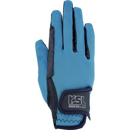 Jezdecké rukavice USG Malibu, modro-tyrkysové - vel. S Rukavice jezdecké USG Malibu, modro-tyrkysové