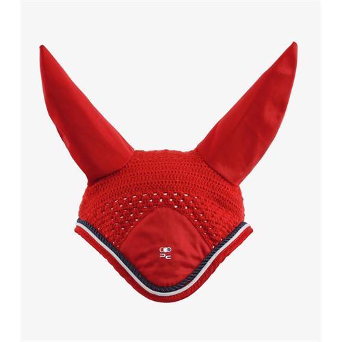Čabraka na uši Premier Equine - červená, XFull Čabraka Premier Equine, červená, XFull